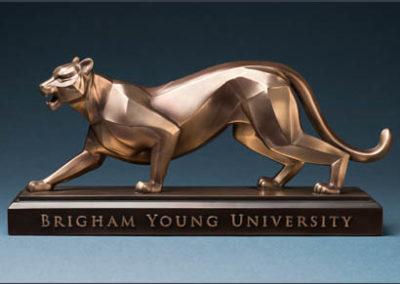 BYU Cougar – Antique Brass