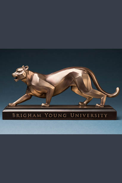 BYU Cougar – Antique Brass